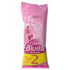 Gillette одноразовый cтанок Blue II розовый 5шт