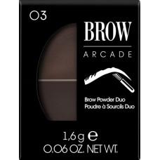 VIVIENNE SABO тени для бровей двойные Brow Arcade 03 для брюнеток