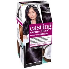L'Oreal Casting Creme Gloss 210 Черный перламутровый