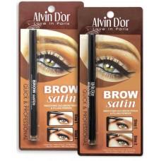 Alvin D`or Дуэт для бровей карандаш + пудра Brow Satn 02 dark brown 037559