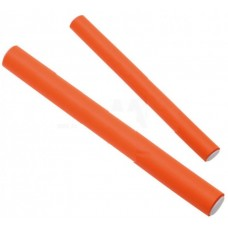 Dewal Бигуди бумеранги BUM-18180 оранж. короткие d18мм 180мм